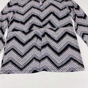 Anne Klein- Blouse. Medium. Fine Black Stripes.